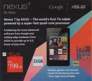 de nexus 7 met 32gb