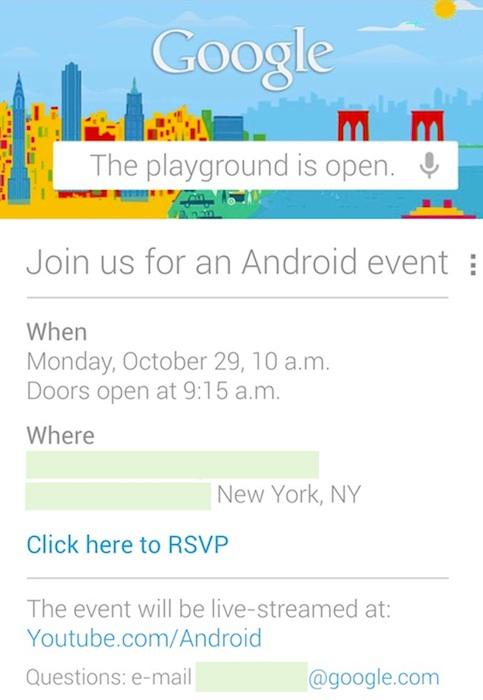Uitnodiging voor Google Evenement op 29 oktober