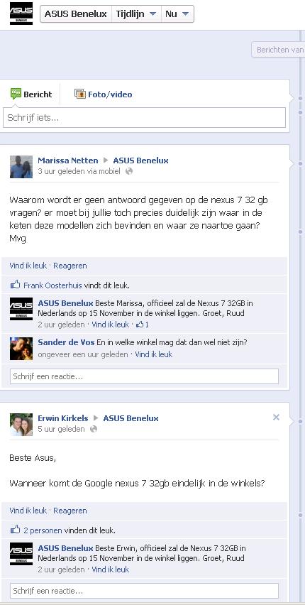 Asus facebook